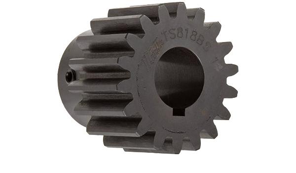 3-49//64 Inch Hub Dia 4-3//8 Inch total width 1-1//8 Inch +//-1//16 Pilot Bore P 3-1//2 Face Width H 5 Inch OD, 0.875 Inch Hub Projection 18 Teeth 1-125 B Ametric 20S418 Inch Steel Spur MPB Gear F 20 Deg 4DP
