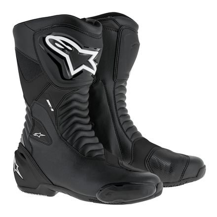 Alpinestars SMX-S Performance Riding Mens Motorcycle Boots - Black - 45