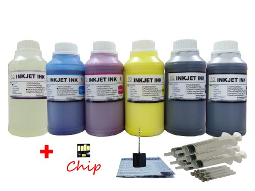 ND ™ Brand INK 6X10oz (PK BK C M Y GO) refill ink for Kod...