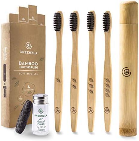 Cepillo de Dientes de Bambú de Greenzla (4