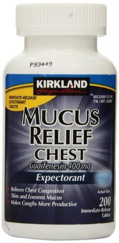 Kirkland Signature Mucus Relief Chest Guaifenesin 400 mg Expectorant - SpecialValue Pack of 800 Count Total ()