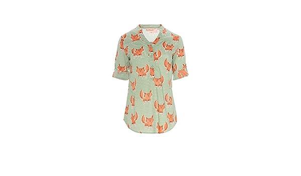 Traka Barraka Bilbao, Camisa para Mujer, (Zorro Naranja), 40 (Tamaño del Fabricante:M): Amazon.es: Ropa y accesorios