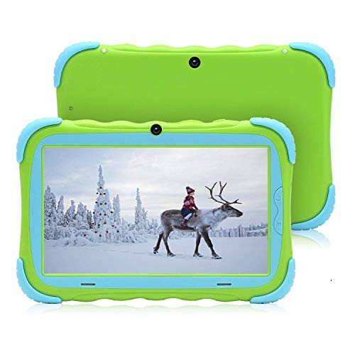 (【Upgraded 7 inch Android 8.1 Kids Tablet IPS HD Screen 1GB/16GB Babypad Edition PC with WiFi and Camera and Games Google Play Store Bluetooth Kids-Proof Case GMS Certified with)