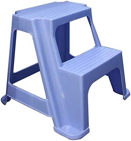 CATLXC Taburete de Escalera, Banco de Zapatos de plástico para el hogar, Taburete de Escalera para niños, 2 Pasos, Azul, Talla única: Amazon.es: Hogar