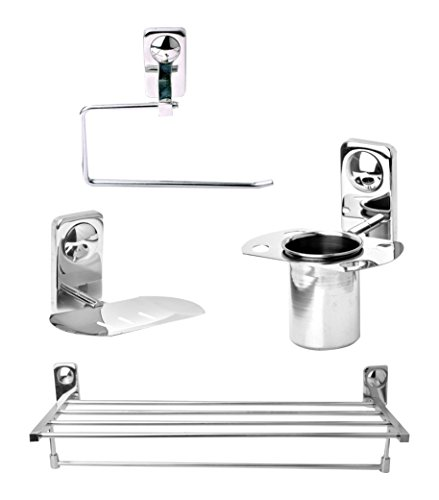 Doyours DY 0749 Stainless Steel Towel Rack Set  Steel Glossy, 5 Piece