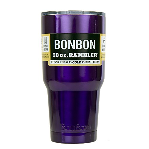 BonBon 30 Ounce Rambler Tumbler Stainless Steel Cup with Lid (purple)