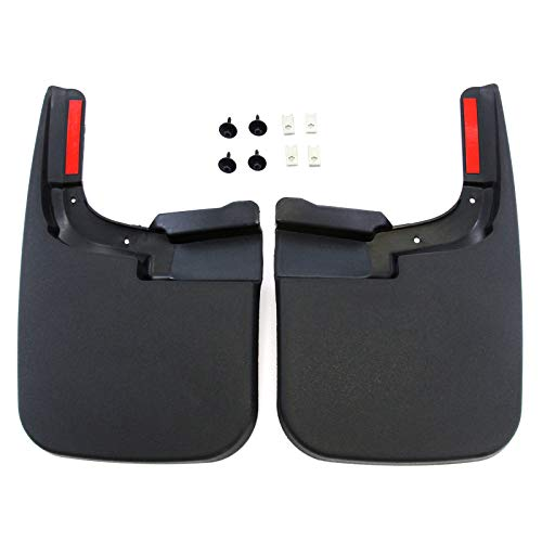Red Hound Auto Compatible With Ford 2017 2019 F 250 F 350 Super Duty Mud Flaps Splash Guards Front Molded 2pc Pair For Vehicles Without Fender Flares
