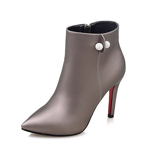Women's Soft Material Pointed Closed Toe Solid Low-top High-Heels Boots