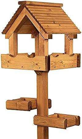 Riverside Woodcraft Triple Platform Bird Table With Anti Bacteria Coating