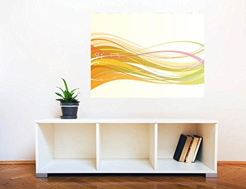 Removable Wall Sticker Wall Mural Abstract Colorful Lines Creative Window View Wall Decor