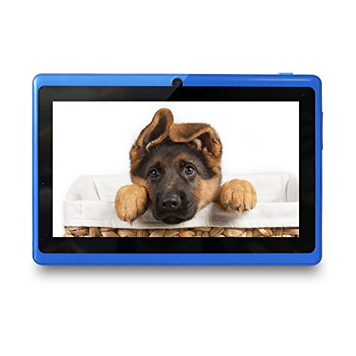 Yuntab Ultrathin 7 inch Quad Core Android Tablet PCGoogle Android 4.4 OS Allwinner A33 Multi-touch Screen Dual Camera Wifi 3D Games supported Blue