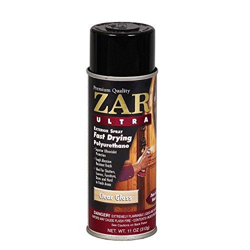 Zar 34007 Gloss Ultra Exterior Fast Drying Polyurethane Spray, 11-Ounce