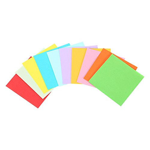 1 Pack 520 Pcs Origami Folding Paper Colorful Double Sided Origami Crane Craft Sheets 7×7 cm -