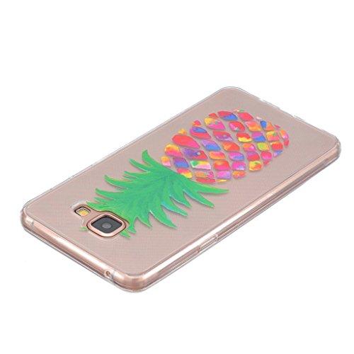 Galaxy A5 2016 Case Cover Carcasa , Dibujos Animados Blanco Diente De León Caso Cubierta Transparente TPU Gel De Silicona Suave Funda Tapa Para Samsung Galaxy A5 2016 SM-A510F + 24K Etiqueta Engomada Piña