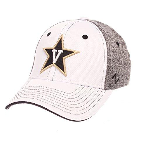 Ncaa Vanderbilt Commodores Adult Men Equinox Hat  Medium Large  White Heather Gray