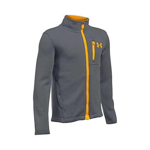 Under Armour Boys Granite Jacket  Graphite Steeltown Gold  Youth X Small