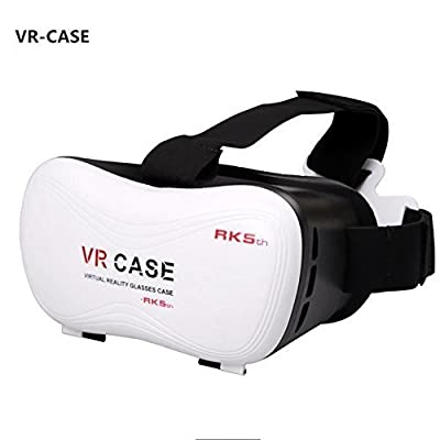 VR Headset Virtual Reality 3D Glasses Helmet 2016 New Version Ajustable VR Case Box for iPhone 6/6S/6S plus Samsung Galaxy S7 S6 S5 and All other 3.5-6.0 inch iOS Android Smartphones