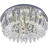 Plafon Greta LED 6500K 45Cm, Startec, 149410010, 24 W, Transparente/Cristais