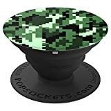 Digital Camouflage Pop Socket Camo 8 bit 16 bit green - PopSockets Grip and Stand for Phones and Tablets