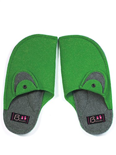 Beliti Para 38 Eu Por Verde Mujer De Multicolor Estar Casa Zapatillas qCq7BWwO1