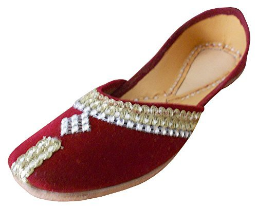 Kalra Creations Women's Traditional Velvet With Sequence Mojari Work Ethnic Mojari Sequence B010FBXIOI Shoes 865143