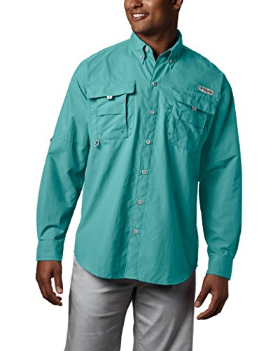 c0b9c70a4bf Columbia Men's Bahama II Long Sleeve Shirt, Gulf Stream, Medium