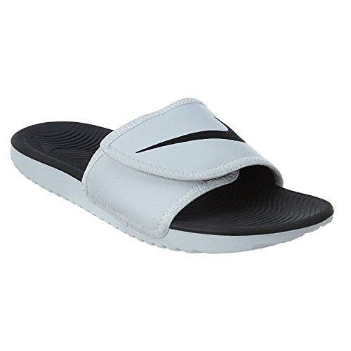 Nike Men's Kawa Adjustable Slide Sandals, White/Black-White, 11