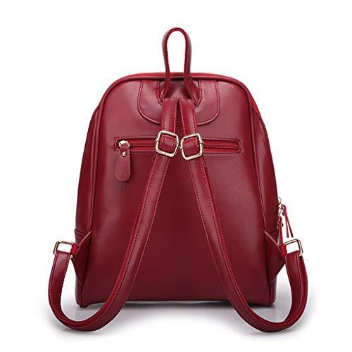 Misha School blu Backpack tracolla Women's in Borsa pelle a Pu Brown wBnUqX1