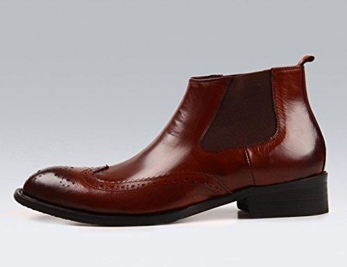 751b6595886e ... Herren Lederschuhe Herren Lederschuhe High-Top Business britischen Stil  wies kurze Martin Stiefel Herrenschuhe ...