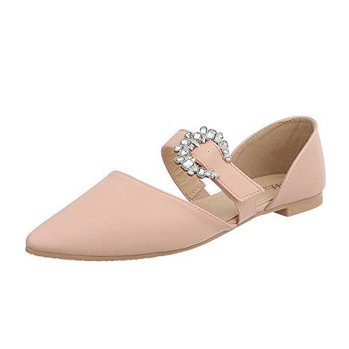 Ital-Design Women's Ballet Flats Block Heel Classic Ballet Flats at Altrosa 127-39 bkozFn