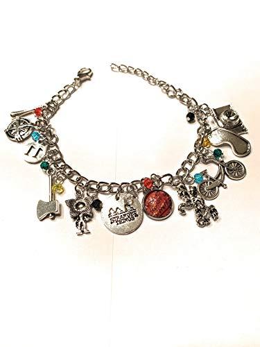 Ivy & Clover Stranger Things Inspired Stamped Medallion Charm Bracelet Style ()