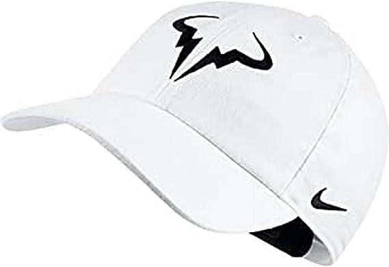 NIKE Rafa Nadal U Nk Arobill H86 Gorra, Hombre, Blanco (White/Black), Talla Única: Amazon.es: Deportes y aire libre