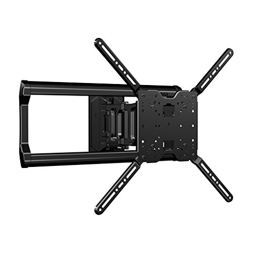 sanus full motion tv wall mount for 37 to 80 tvs extends 18 fits studs up to. Black Bedroom Furniture Sets. Home Design Ideas
