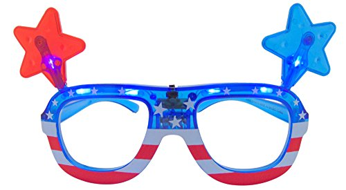 Westman Works USA Patriotic American Star Glasses LED Light Up Novelty Accessories