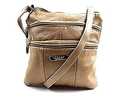 8e1d1715a20c Lorenz Adult Leather Shoulder Handbag 3766 Medium Beige: Handbags ...