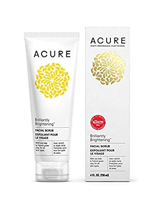 Acure Brilliantly Brightening Facial Scrub, 4 Ounce PK/3 from Acure