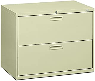 product image for HON 582LL 500 Series 36 by 28-3/8 by 19-1/4-Inch 2-Drawer Lateral File, Putty