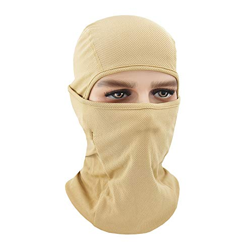 (WSYHXMMask Summer Sunscreen Hood Outdoor Riding Men and Women Ice Silk Full Face Fishing Anti-UV Wind and Dustproof Sunscreen Mask Gini Outdoor Balaclava mask (Color : Flesh-Colored))