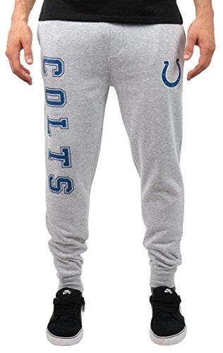 NFL Indianapolis Colts Men's Jogger Pants Active Basic Fleece Sweatpants, X-Large, Heather ()