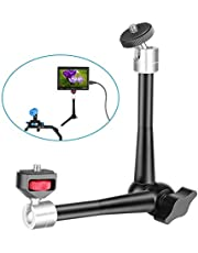Neewer 11 inches Adjustable Friction Articulating Magic Arm with Both 1/4-inch Thread Screw Compatible with DSLR Camera Rig, LED Light, Field Monitor and Flash, etc Load up to 3 Kilograms/6.6 Pounds