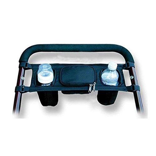 Gazechimp Carro De Bebé Bandeja Cochecito de Niño Colgando Portavasos Bolsa Para Silla De Paseo Accesorios Negro: Amazon.es: Bebé