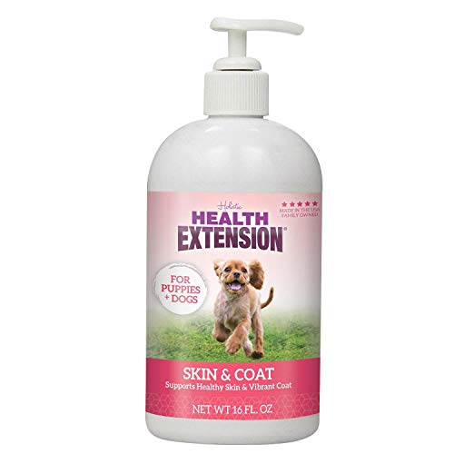 Health Extension Skin & Coat Oil - Liquid Food Supplement For Dogs - EPA, GLA & DHA to Prevent Shedding & Itching
