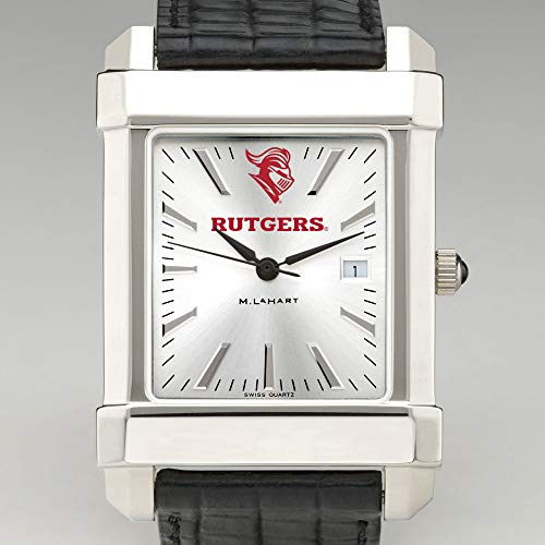 M. LA HART Rutgers University Men's Collegiate Watch with Leather Strap