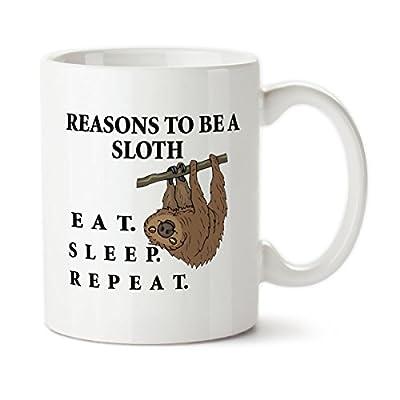 Reasons To Be A Sloth 001, 15Oz Ceramic Coffee Mug, Designed By Drageyn Designs-Tm - Drageyn Designs-Tm