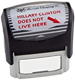 Hillary Clinton Does Not Live Here Stamp by