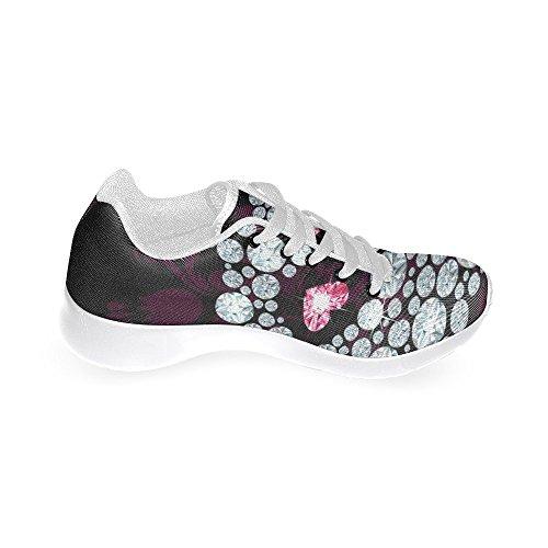 Interestprint Femmes Casual Appartements Doux Running Chaussures De Marche Blanc 8
