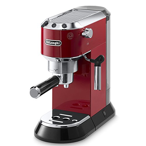 Delonghi EC680.R DEDICA 15-Bar Pump Espresso Machine Coffee Maker, Red, 220 Volts (Not for USA – European Cord)