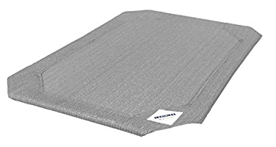 Coolaroo Replacement Pet Bed Cover, Cooling, Washable, Indoor or Outdoor Dog Bed or Cat Bed, Medium (M), Gray