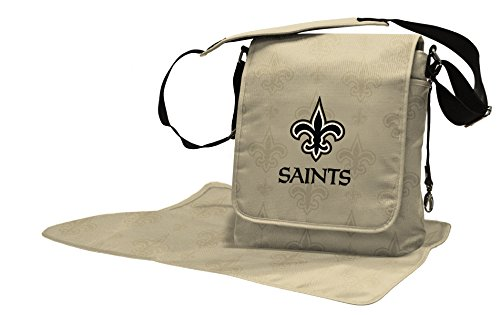 Lil Fan Diaper Messenger Bag, NFL New Orleans Saints -
