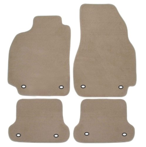RAU March AMROB0189Fitted Car Mats for Seat Exeo Estate from 2009with Mat Fixing (Press Stud) on The Front and Back
